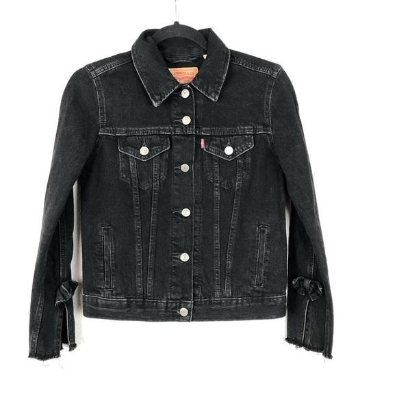 Levi's Denim Trucker Jean Jacket Black Extra Small